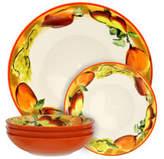 Elama Peach Relish 5-Piece Pasta Serving Bowl Set