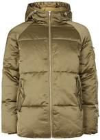 Topman Khaki Oversized Puffer Jacket
