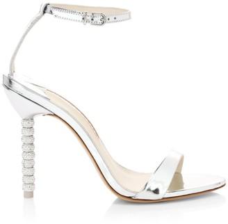Sophia Webster Haley Embellished-Heel Metallic Leather Sandals