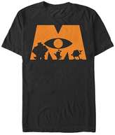 Fifth Sun Monsters Inc Halloween 'M' Tee - Men & Big