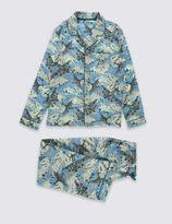 Marks and Spencer Pure Cotton Aeroplane Print Pyjamas (1-16 Years)