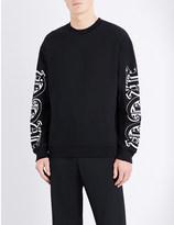 McQ by Alexander McQueen Gothic print cotton-jersey sweatshirt