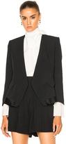 Chloé Crepe Sable Blazer in Black.