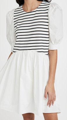 ENGLISH FACTORY High Low Stripped Knit Combo Dress