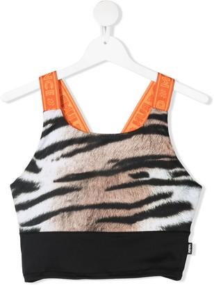Molo TEEN leopard-print sports bra
