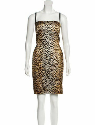 Dolce & Gabbana Animal Print Mini Dress Black