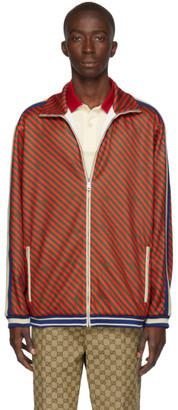 Gucci Red Allover Stripe Jacket