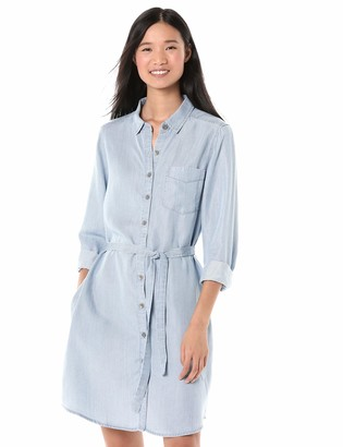 Goodthreads Amazon Brand Women's Tencel Long-Sleeve Shirt Dress