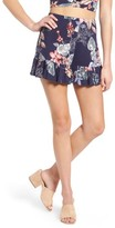 Soprano Women's Ruffle Floral High Waist Shorts