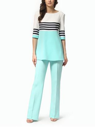 LADA LUCCI Women's Casual Pants Mint - Mint & Black Stripe Color Block Tunic & High-Waist Pants - Women & Plus