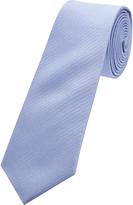 Oxford Silk Tie Reg Zigzag Blu Lt X