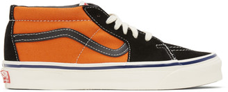Vans Orange and Black OG Sk8-Hi LX Sneakers