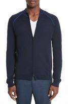 Armani Collezioni Men's Zip Front Raglan Sweatshirt