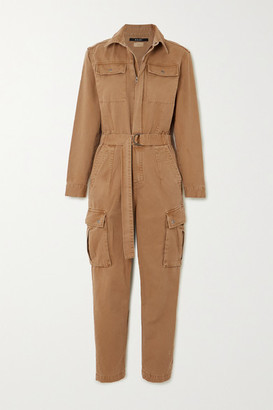 Ksubi Feedback Belted Cotton-drill Jumpsuit - Tan