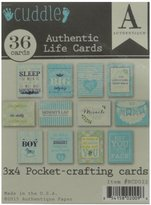 Authentique Paper BCD022 Cuddle Boy Authentic Life Pocket Crafting & Journaling Cards