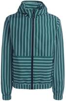 MSGM White/green Striped Coat