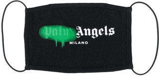 Palm Angels Spray Print Face Mask