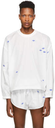adidas by Alexander Wang White AW Crew Sweatshirt