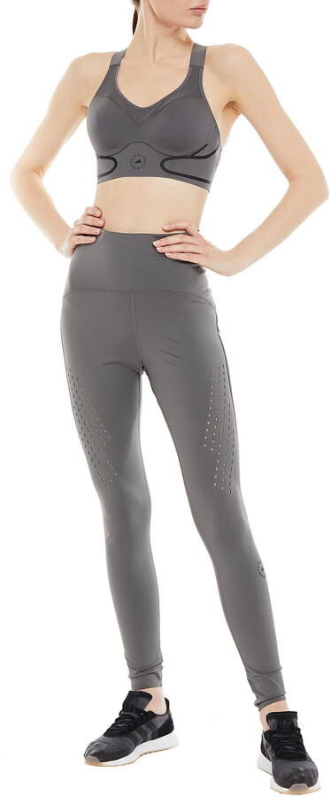 Thumbnail for your product : adidas by Stella McCartney Truepurpose Perforated Stretch Leggings