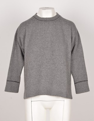 Bruno Manetti Gray Wool & Cashmere Blend Women's Sweater