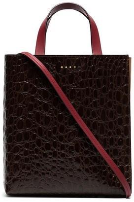 Marni Museo crocodile-effect leather tote bag
