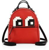 Les Petits Joueurs Mick Eyes Micro Spiked Leather Backpack