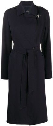 Fay Double-Breasted Belted Coat