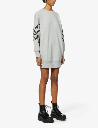 Kenzo Logo-print cotton-blend mini sweatshirt dress