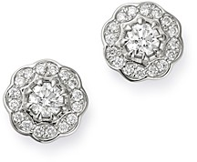 Bloomingdale's Cluster Diamond Stud Earrings in 14K White Gold, 0.65 ct. t.w. - 100% Exclusive