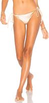 Frankie's Bikinis Frankies Bikinis Knot Bottom in Beige. - size M (also in )