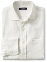 Lands' End Men's Tailored Fit Long Sleeve Linen Shirt-Ivory