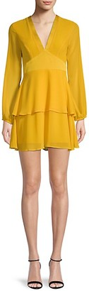 BCBGeneration Tiered V-Neck Mini Dress