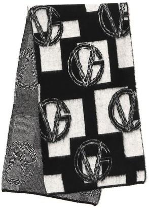 Versace Monogram Motif Scarf