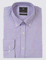 M&S Collection Pure Cotton Easy to Iron Regular Fit Shirt