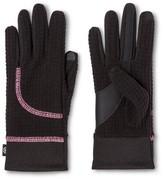Isotoner Gloves Black Grey Color Block