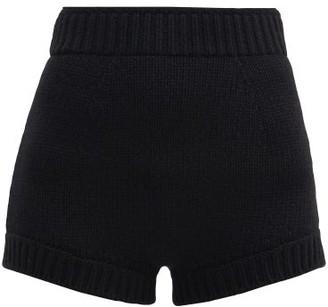 Dolce & Gabbana High-rise Knitted-cashmere Shorts - Black