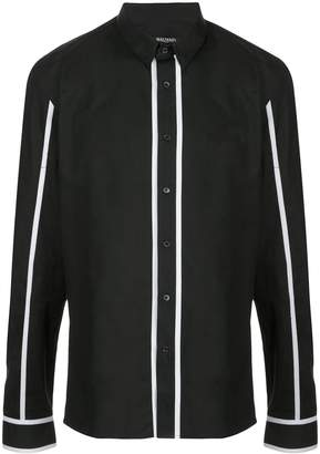 Balmain stripe trim shirt
