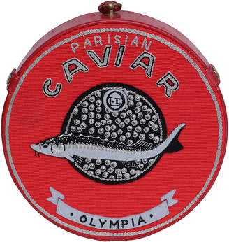 Olympia Le-Tan Caviar Round Crossbody Bag