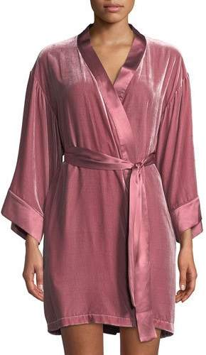Dany Vivis Velour Short Robe