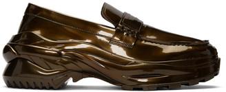 Maison Margiela Bronze Cross Loafers