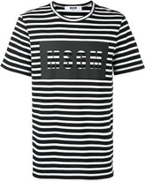 MSGM printed logo T-shirt - men - Cotton - L