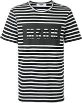 MSGM printed logo T-shirt - men - Cotton - XL