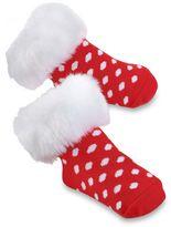 Mud Pie Fur Cuff Socks Dot