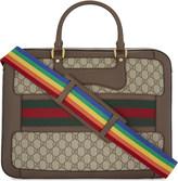 Gucci Web stripe GG Supreme canvas briefcase