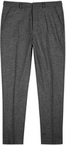 Ami Grey Slim-leg Wool Trousers