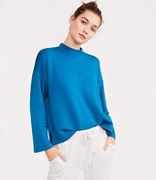 Lou & Grey Signaturesoft Plush Mock Neck Sweatshirt