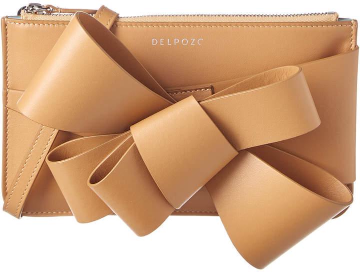 DELPOZO Mini Bow Leather Clutch Bag