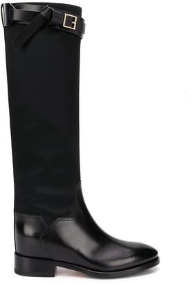 Santoni Knee-High Leather Boots
