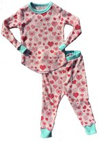 Rowdy Sprout Girl's Heart Thermal Set