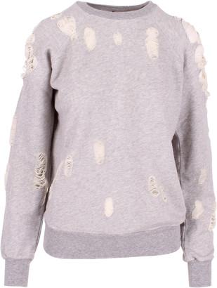Taverniti So Ben Unravel Project Unravel Project Cotton Sweatshirt